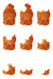 被咬住的油煎的炸肉排系列全部的熏&# 库存照片