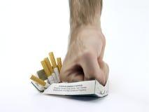 离开的抽烟 免版税库存照片