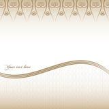 сбор винограда типа предпосылки флористический Стоковое Изображение