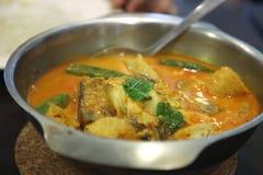 亚洲咖喱鱼 库存照片