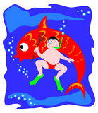 подводная лодка рыб Стоковое Фото