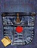 джинсовая ткань коллажа Стоковая Фотография RF
