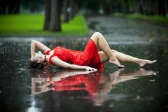 雨夏天 库存照片