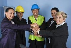 建筑师团结的企业小组 免版税库存图片