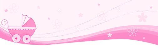 婴孩横幅女孩标头 免版税库存照片