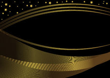 черная рамка золотистая Стоковые Фото