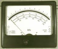 метр частоты старый Стоковая Фотография