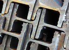 放光互锁的钢 免版税库存图片