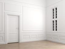 классицистическая угловойая пустая нутряная комната Стоковое Изображение RF