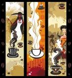 横幅咖啡女孩 免版税库存照片