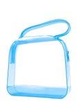 透明蓝色的手袋 库存图片