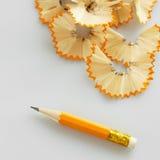 铅笔削片 免版税库存图片
