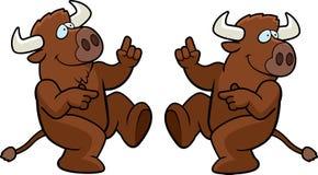 танцы буйвола Стоковые Изображения
