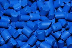 热塑性塑料蓝色的树脂 免版税库存图片