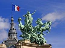 巴黎雕象 库存图片