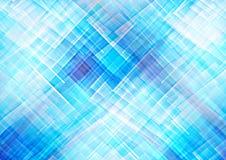 抽象背景蓝色几何模式 库存图片