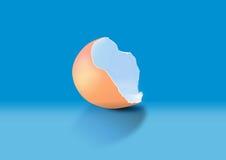 сломленное яичко Стоковое Изображение