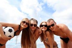 海滩小组 图库摄影