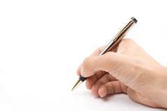 сочинительство руки принципиальной схемы Стоковое фото RF