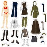 комплект куклы, котор нужно нести Стоковая Фотография