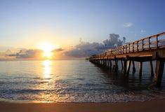 佛罗里达日出 免版税库存照片