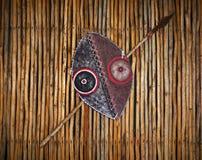 非洲盾矛部族战士 免版税库存照片