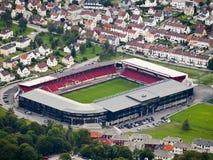 卑尔根足球场 库存照片