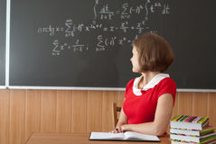 教师年轻人 免版税库存照片