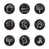 房子图标对象集 免版税库存图片