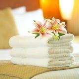 旅馆毛巾 库存图片
