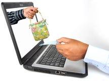 互联网购物 免版税图库摄影