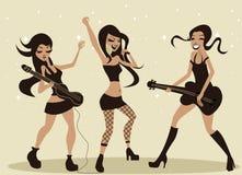女孩音乐使用 库存照片