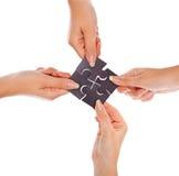 τέσσερις γρίφοι χεριών Στοκ εικόνα με δικαίωμα ελεύθερης χρήσης