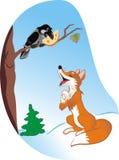 ворон лисицы Стоковые Изображения RF