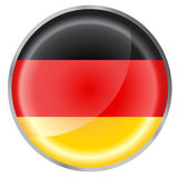 Круглый флаг кнопки Стоковое Изображение