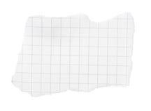приданная квадратную форму бумага бита сорванной Стоковые Фотографии RF