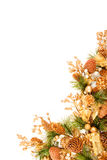 圣诞节壁角装饰装饰品系列 库存照片