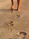 след ноги Стоковая Фотография RF
