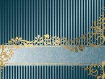 横幅水平的维多利亚女王时代的葡萄&# 免版税库存图片