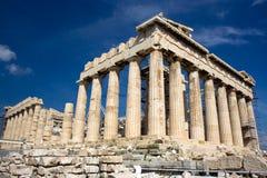 希腊帕台农神庙 免版税库存图片