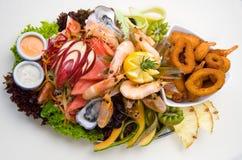 продукты моря диска Стоковые Фотографии RF
