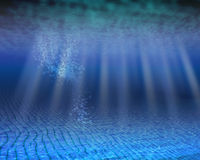 пустое место океана подводное Стоковые Изображения RF