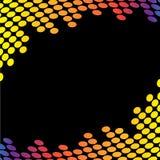 音频边界波形形式 免版税库存照片