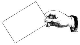 χέρι τελών καρτών Στοκ Εικόνες