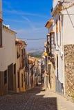 城市五颜六色的缩小的老街道 免版税库存图片