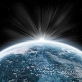 вселенный восхода солнца исследования земли Стоковое Фото