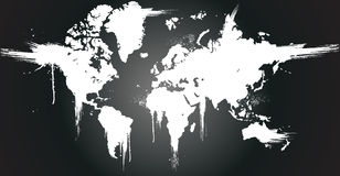 墨水泼溅物世界 库存图片