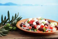 希腊沙拉 免版税库存图片