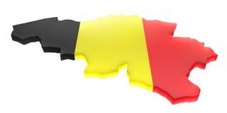 карта Бельгии Стоковое Изображение