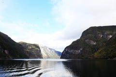 φιορδ στη Νορβηγία Στοκ Εικόνες
